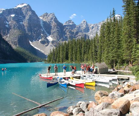 View from Moraine Lake Lodge