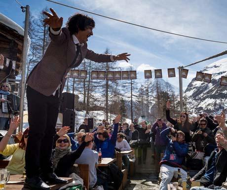 Cervo in Zermatt best for after ski drinks