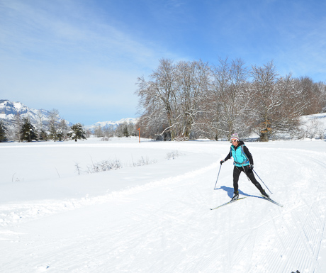 Cross Country Skiing in the Southern french Alps
