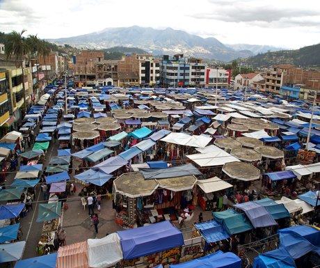 Ecuador Otavalo Market Above