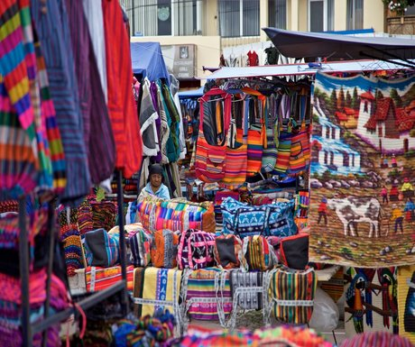 Ecuador Otavalo Textile Market Man