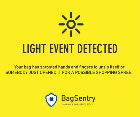 BagSentry light event detected