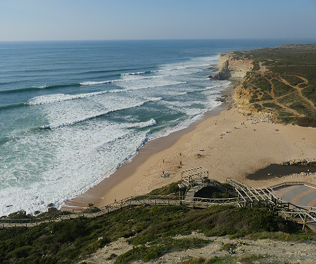 Beach at Ribeira dIlhas from above