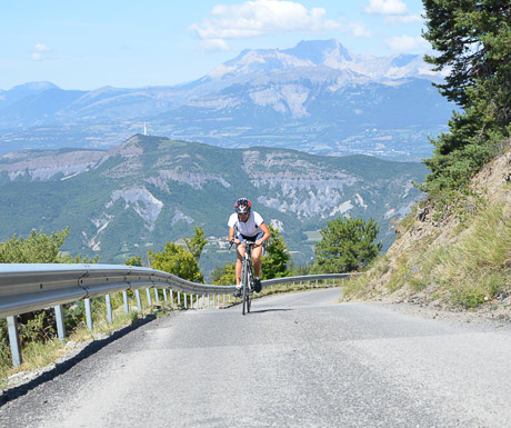 Cycling up Mont Colombis