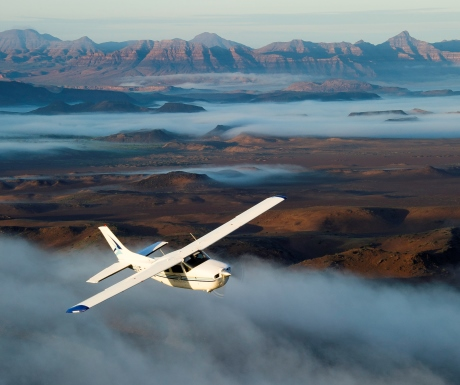 Flying safaris over Namibia