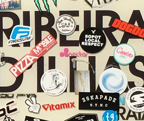 Ribeira dIlhas surfboard sign