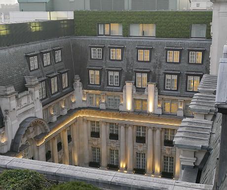Rosewood London courtyard view