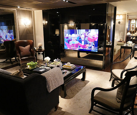 Rosewood London living area plus TV