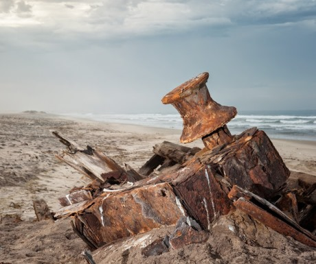 Shipwreck on Namibia's Skeleton Coast