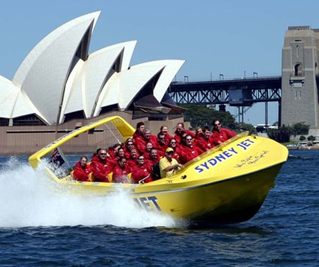 Speed boat Sydney Harbour