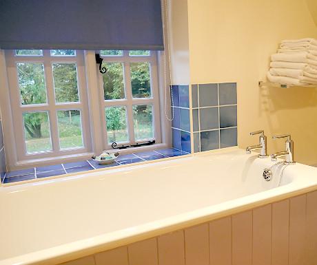 Upstairs bathroom at Stone Lodge