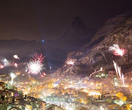 Zermatt celebrations  at New Year