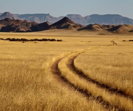 Sandy track Namibia