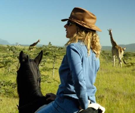 Borana Ranch riding with giraffes
