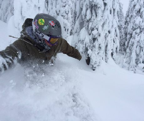 Enjoying the Powder at Big White Ski Resort
