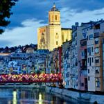 Girona Bridge Decorated Flower Festival-1
