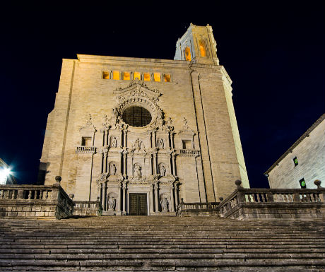 Girona Cathedral At Night-1