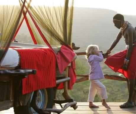 Loisaba starbed and Samburu babysitter