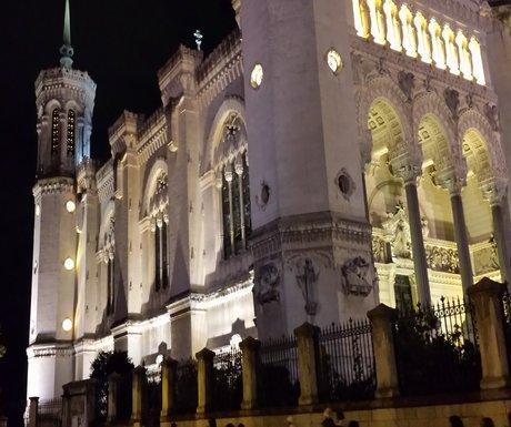 Lyon night view