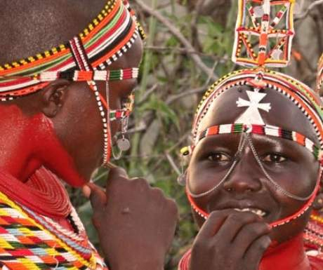 Samburu girls in beaded jewellery