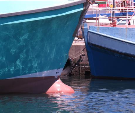 Aquamarine Hulled boat