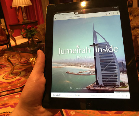 Jumeirahinside on an iPad