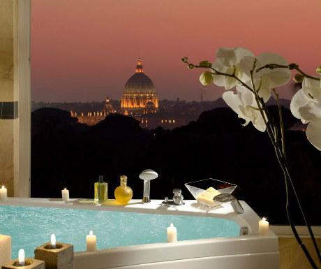 Parco dei Principi Grand bath with location views-1