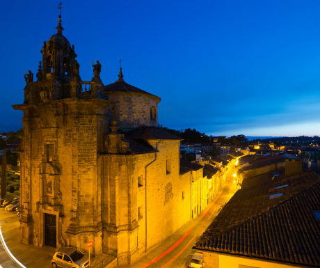 Santiago de Compostela Church of San Fructoso at night-1