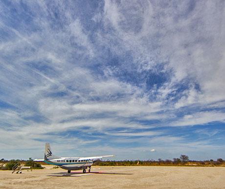 Chitabe charter flight