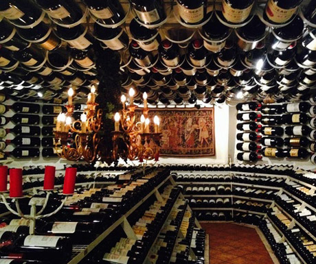 The famous wine cellar at Hospiz-Alm