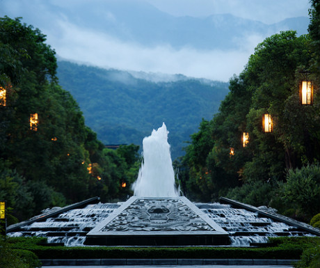 Imperial Springs Resort fountain