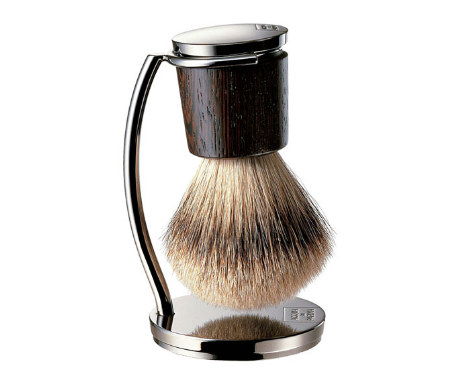 Pure badger shaving brush with stand from Aqua di Parma