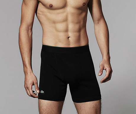 Solid cotton boxer briefs from Lacoste