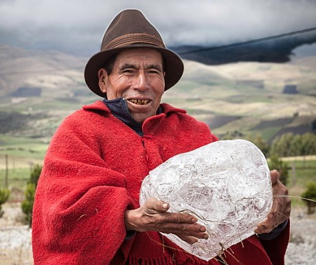 7 - Ice man with ice block