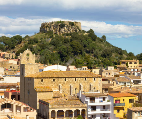 Begur Castle overlooking town
