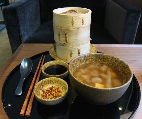 Cathay Pacific vegan food in Hong Kong lounge