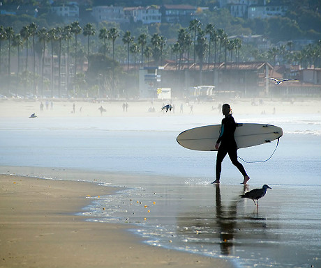 Surfing lessons, San Diego