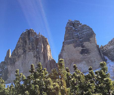 Towering peaks
