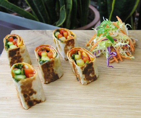 Virgin Atlantic vegan wraps in Clubhouse