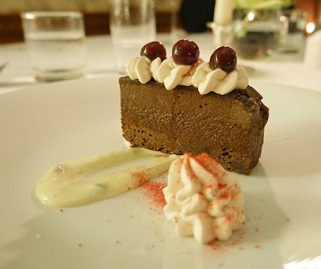 Chocolate dessert at Goldsborough Hall