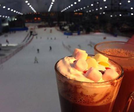 Hot Chocolate at Ski Dubai