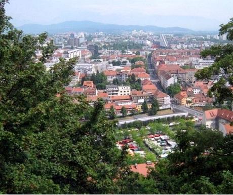 Ljubljana view from castle Slovenia