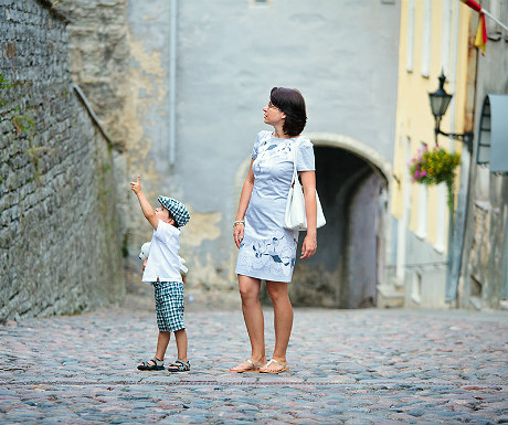 Mother and child in Estonia