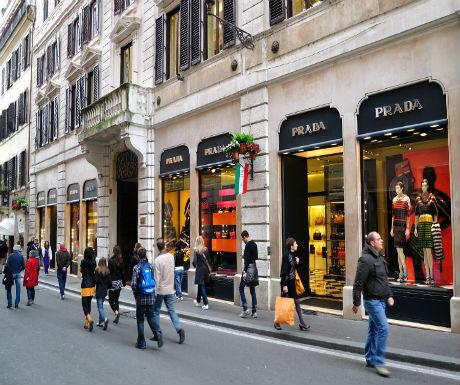 luxury rome via condotti