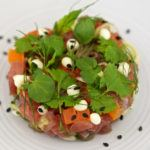 Recipe of the week: Tuna tartare with wasabi mayonnaise and sesame seeds