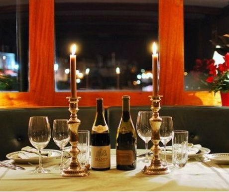 Burgundy barge cruise riverboat dining