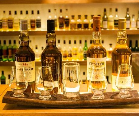 Flight of Diageo Special Releases at Amber