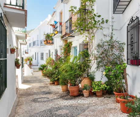 Frigiliana Spain beautiful cobbled street