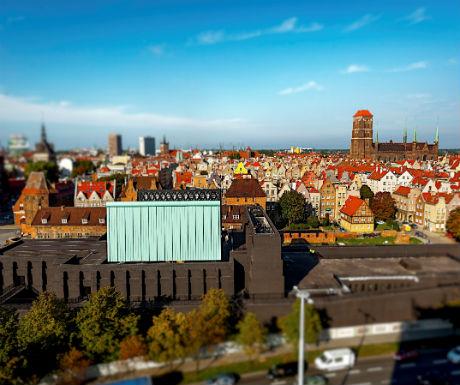 Gdansk Shakespeare Theatre aerial shot