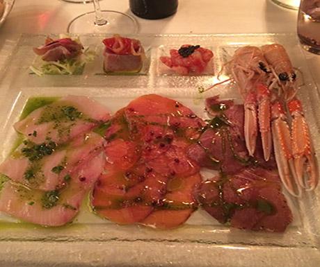 raw fish platter